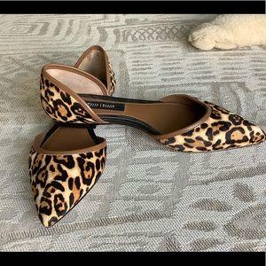 White House Black Market Pony Hair Cheetah Flats